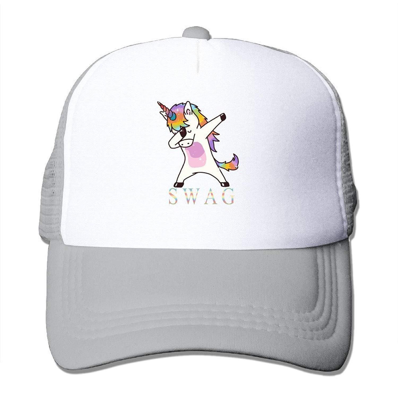 Swag Unicorn Mens Trucker Mesh Hat Baseball Caps Ash: Amazon.es ...