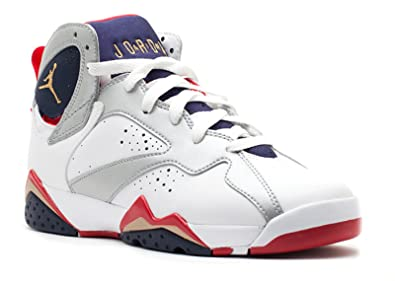 96e74e63ce96 Youth Nike Air Jordan 7 Retro (GS) White   Metallic Gold   Obsidian
