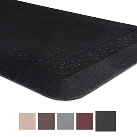 Anti-fatigue Comfort Mat, Non-slip Kitchen Mat, 24 x 72 x 3/4 Inches,  Ergonomically Engineered Perfect for Standing Desk and Garages, Black, by  Grand ...