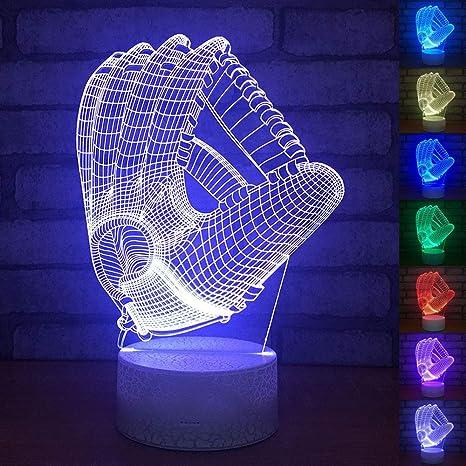 Amazon.com: Mickey Mouse - Lámpara de mesa de noche 3D, para ...