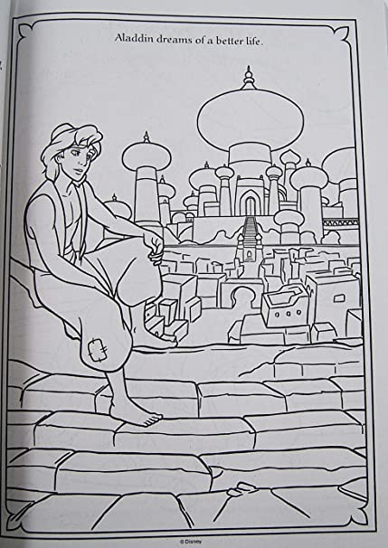Aladdin 2019 Coloring Pages | Coloring Aladdin, Abu, Jasmine ... | 606x429