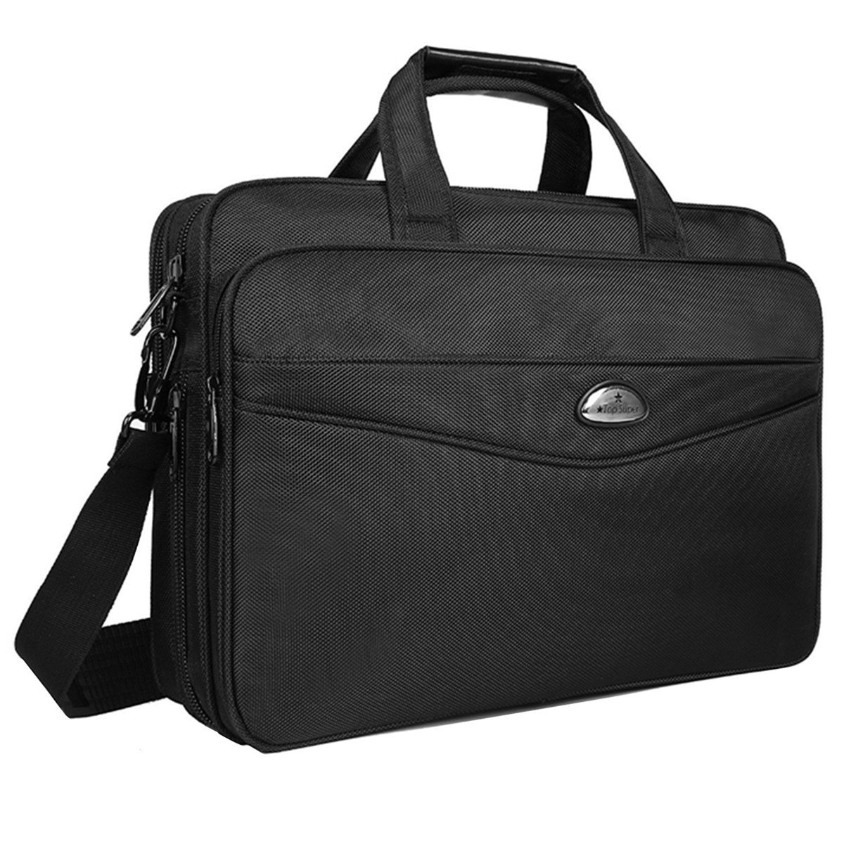 Briefcase 15.6 Inch Laptop Bag Laptop Messenger Bag, Business Office Bag Multifunctional Laptop Case Shoulder Bags for Men Women Fit for 15'' 15.6 Inch Acer HP Dell Lenovo Computer Notebook MacBook