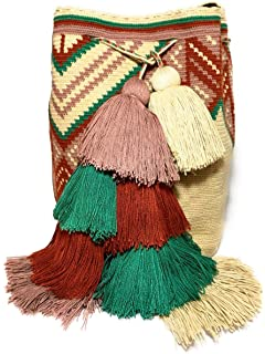 Mochila Wayuu Ethnic 100% hand Woven Shoulder Bag Multicolor