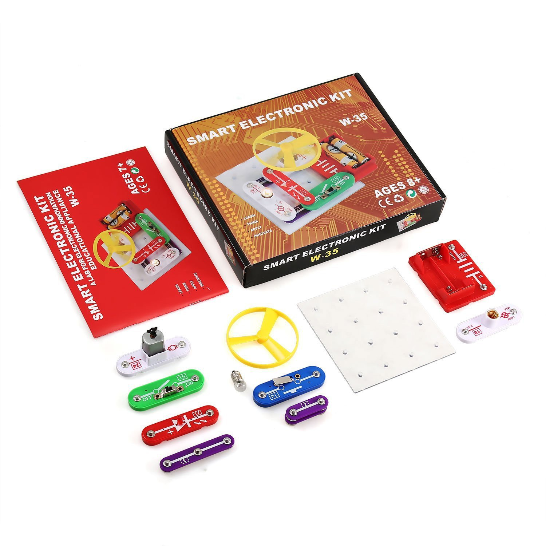 Smibie Elektronik-Baukasten Elektronik Set elektronische Bausteine DIY Explosion Modelle Lernspielzeug Kinder