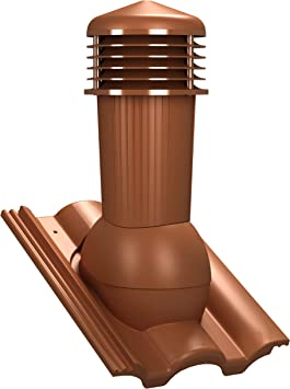 Chimenea de ventilación DN125 para Braas – Taunus tejas ...