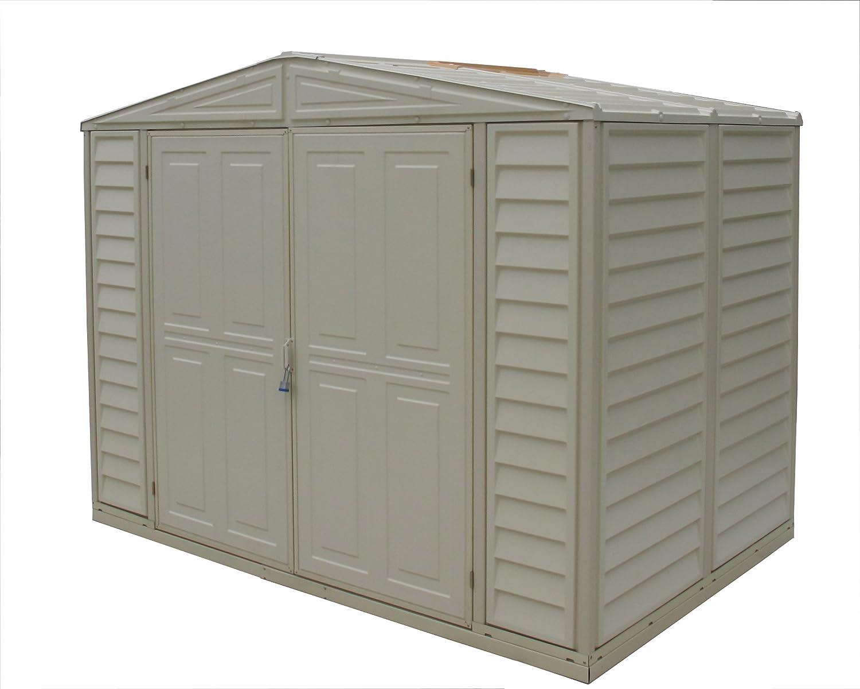 amazoncom duramax model 00111 8x6 duramate vinyl storage shed patio lawn garden
