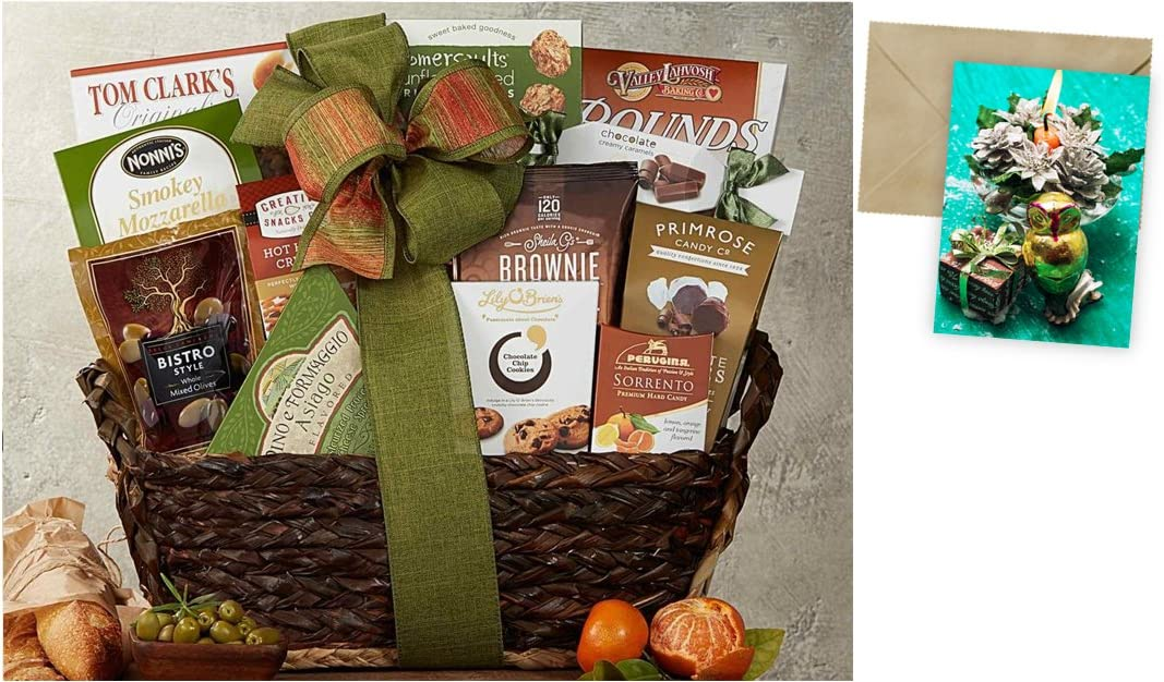 Gourmet Choice Gift Basket for Christmas and personalized card mailed seperately CD3240478