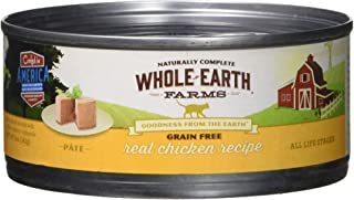 product image for Whole Earth Farms 295246 Grain Free Real Chicken Recipe Pâté Canned Cat Food, One Size