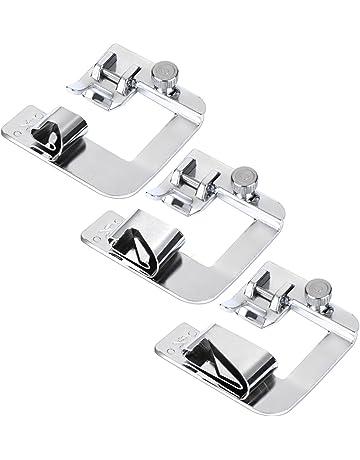 3 Tamaños de Prensatelas de Dobladillo Enrollado Pies de Prensatelas de Máquina de Costura Kit de