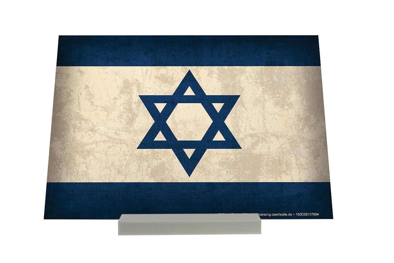 Soporte Fotografias Aventurero bandera de Israel Letrero Decoración: Amazon.es: Hogar