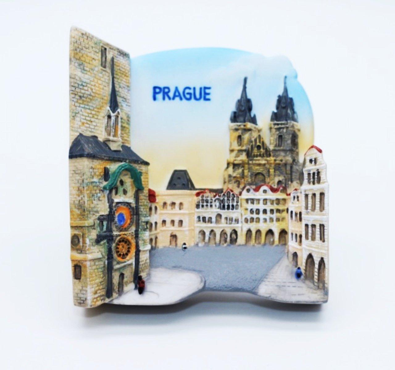プラハ チェコ共和国天文時計使徒タワー 3 D ガレージ グッズ冷蔵庫マグネット B00G3S12SM