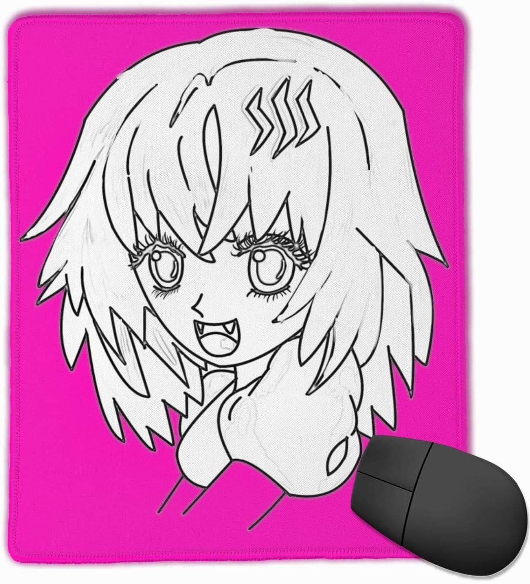 Malven Tokyo Ghoul Cute Steem Girl Drawing Mouse Pad Non-Slip Rubber Base for Office Gaming Computer with Stitched Edge 10x12 in
