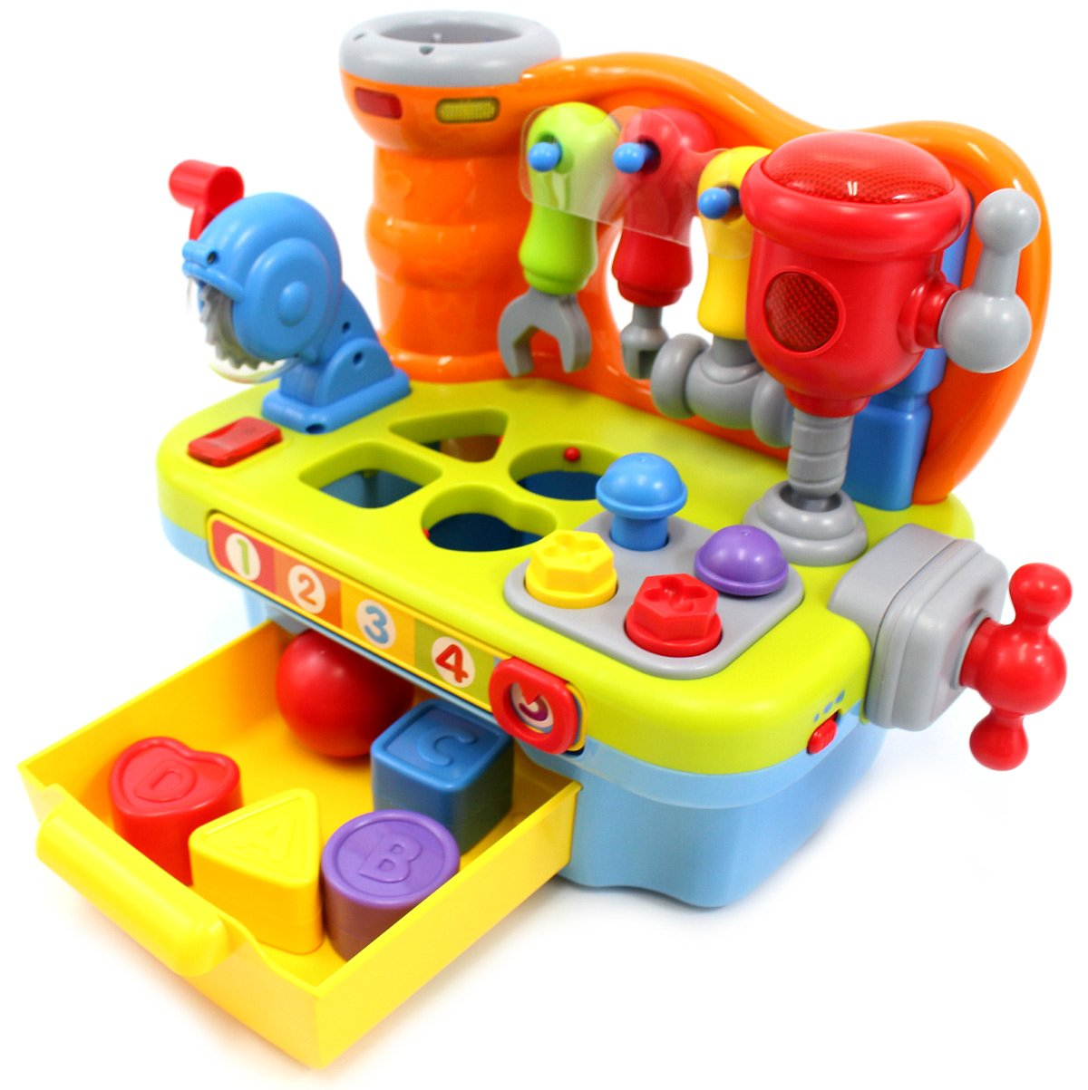 PowerTRC Little Engineer Multifunctional Musical Learning Tool Workbench for Kids by PowerTRC (Image #4)
