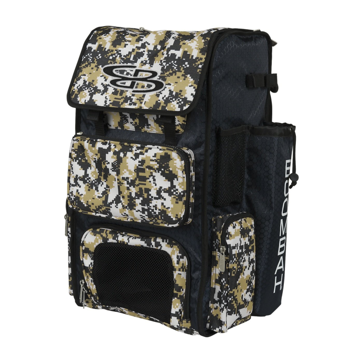 Boombah Superpack Bat Pack -Backpack Version no Wheels Camo Series - Holds 2 Bats 20 Color Options for Baseball or Softball