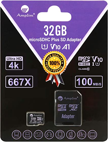 BlackBerry Q10 Cell Phone Memory Card 16GB microSDHC Memory Card with SD Adapter