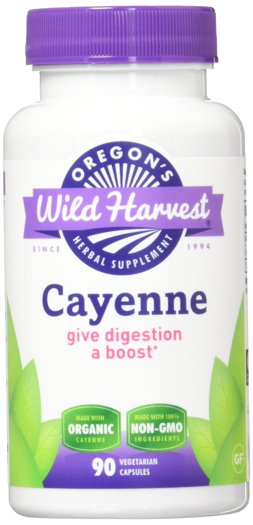 Oregon's Wild Harvest Non-GMO Cayenne Capsules, Organic Herbal Supplements, 90 Count