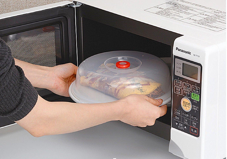 Tapa para microondas Vinallo, 22 cm, sin bisfenol (BPA), plegable, para platos, cuencos, ollas, protege de salpicaduras de alimentos y del vapor