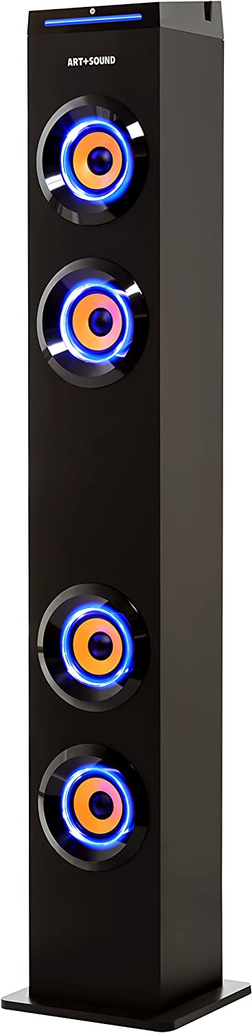 8. ART+SOUND AR1004 Wall Powered Bluetooth Tower Speaker with Lights