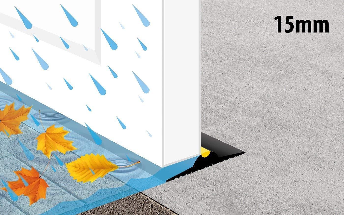 Weather Weather Weather Stop (B x H) 52 cm x 15 mm, Dichtung für die Garagentorschwelle WS001-617, schwarz 6399df