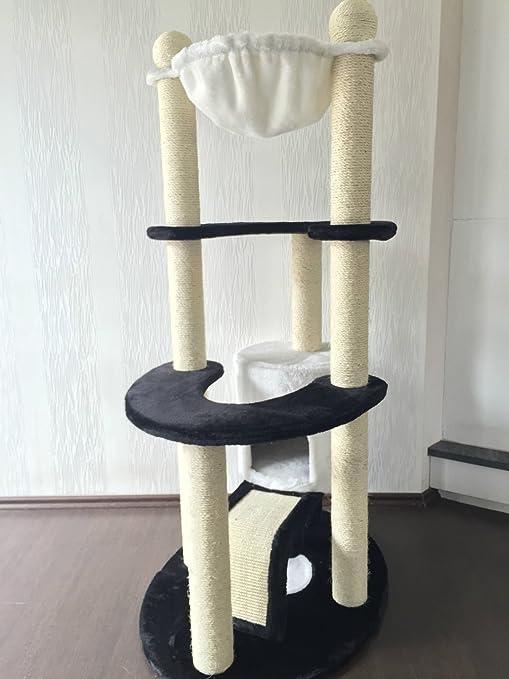 Lemio &apos Rascador Border gato – Árbol para gatos Árbol parte Árbol Escalada algodón Muebles para