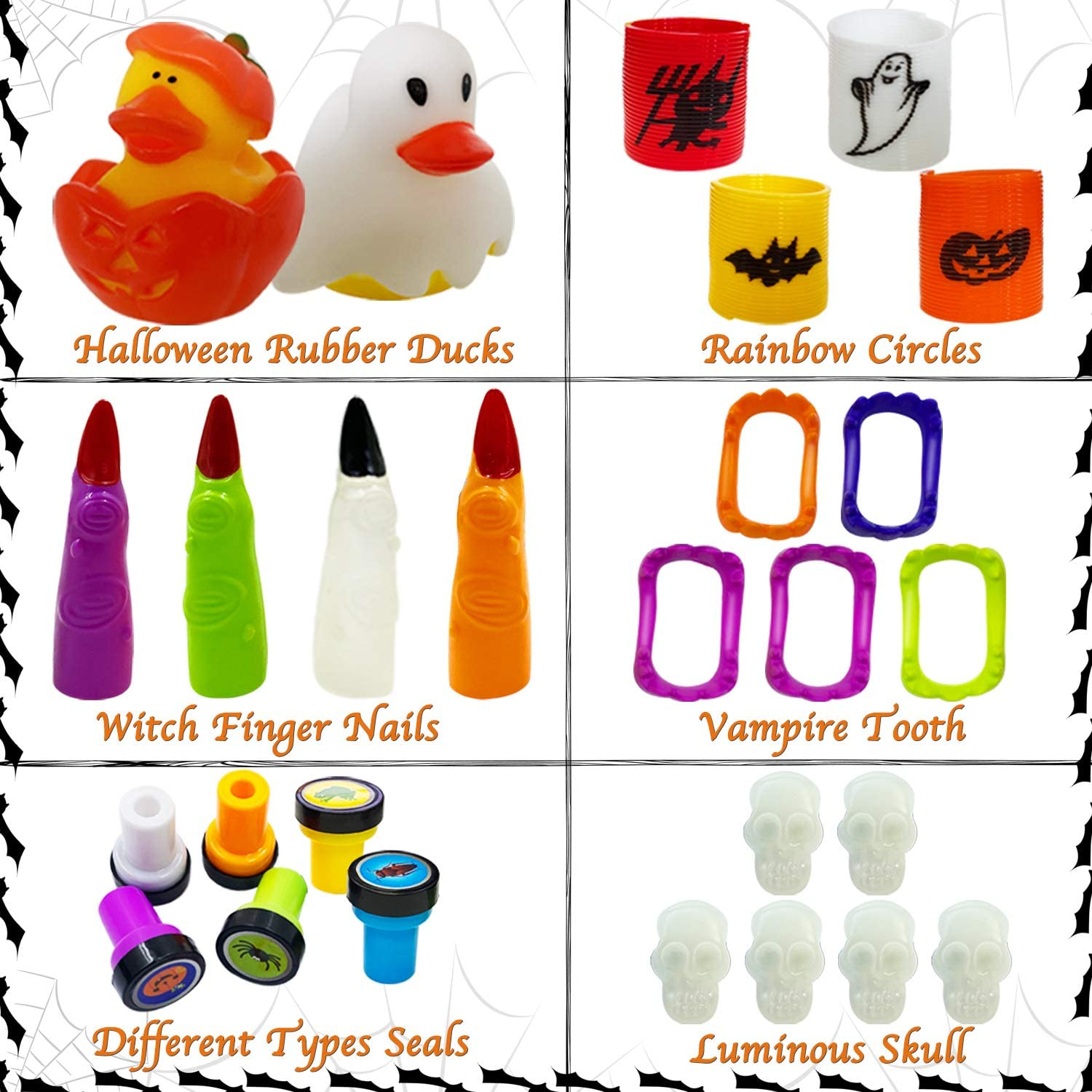 Halloween Miniatures Trick or Treating School Classroom Rewards 150 Pcs Halloween Party Toys Assortment for Kids Halloween Party Favors