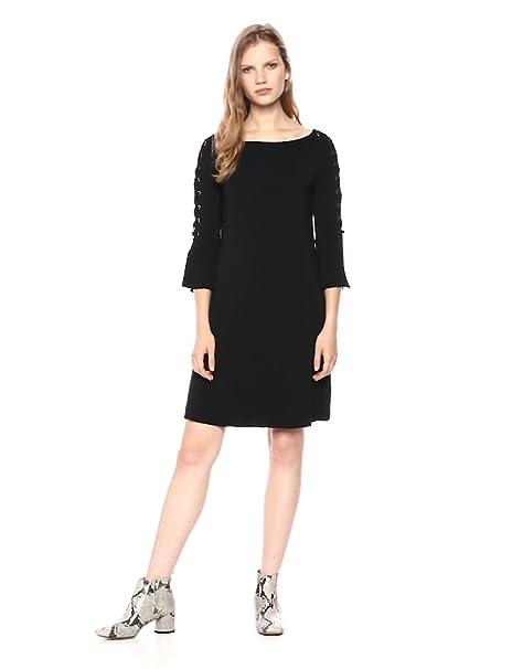 Amazoncom Bailey 44 Womens Kopeck Lace Up Sleeve Dress