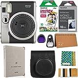 Fujifilm Instax Mini 90 Instant Camera + Fuji Instax Film (20 Sheets) + Accessories Bundle