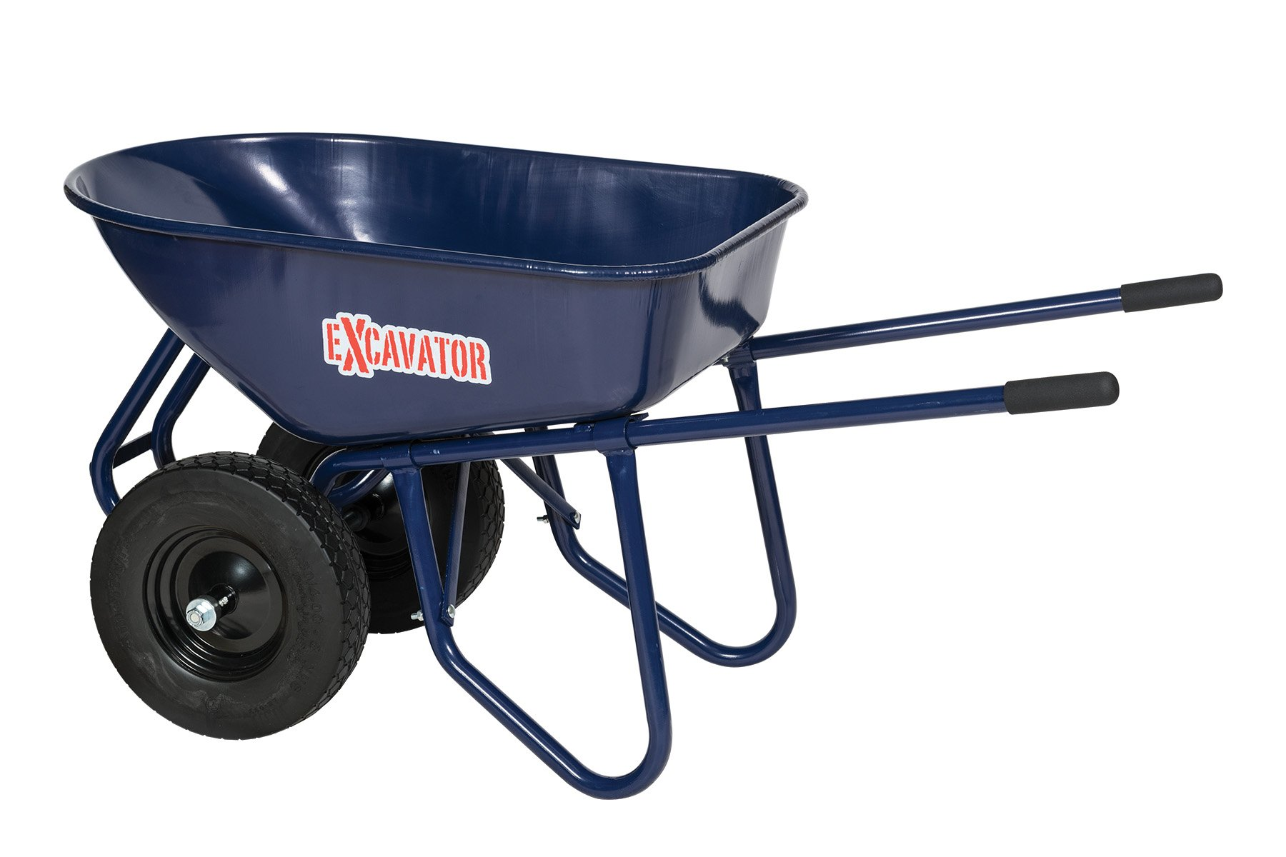 Seymour 85733 Excavator, 6 cu. ft. Wheelbarrow, Steel Tray and Handles, Dual Flat-Free Knobby Tires