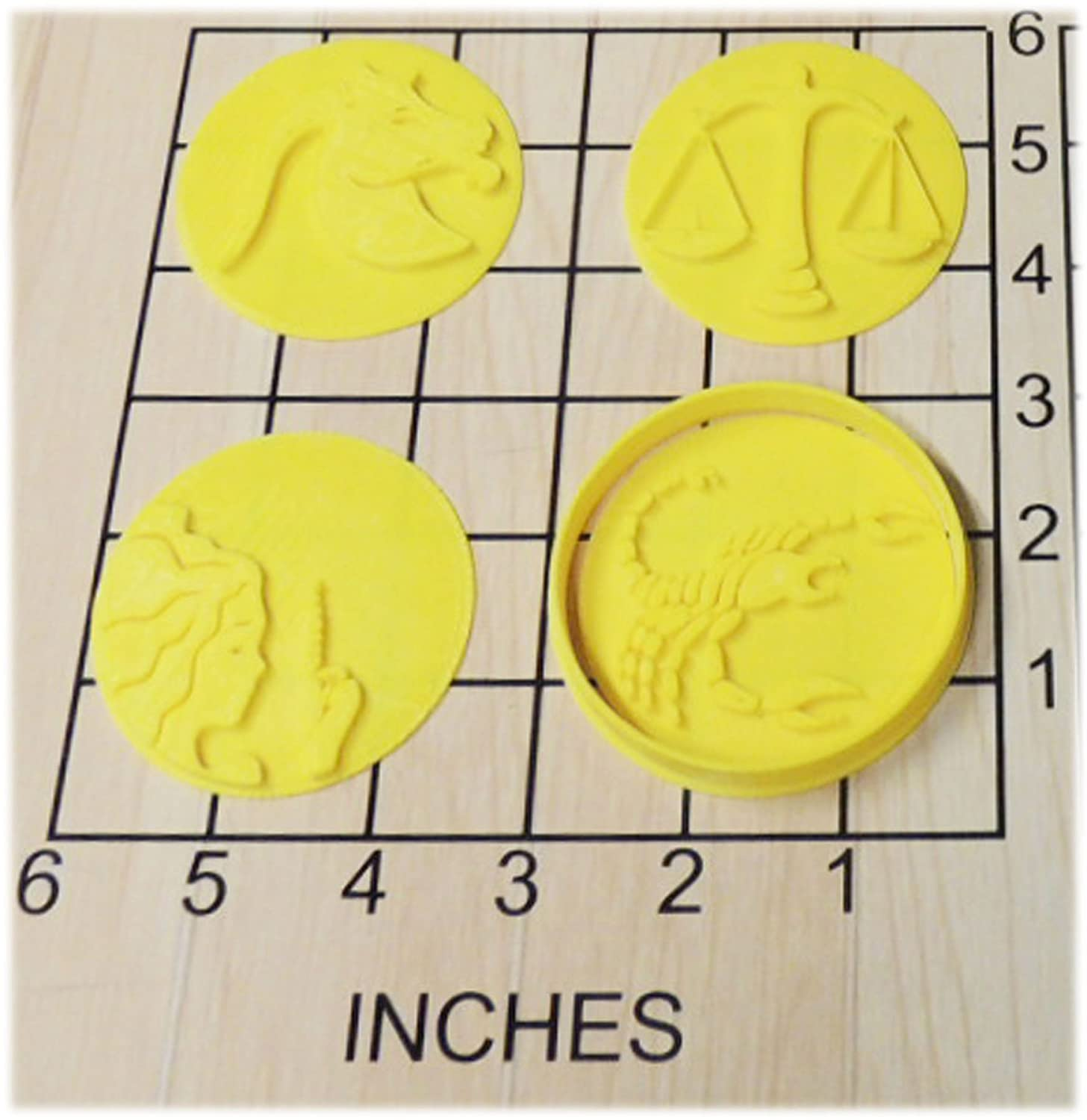 12 Zodiac Astrology Signs Shaped Cookie Cutter and Stamp Set #1168 71qdFbe2BOvL