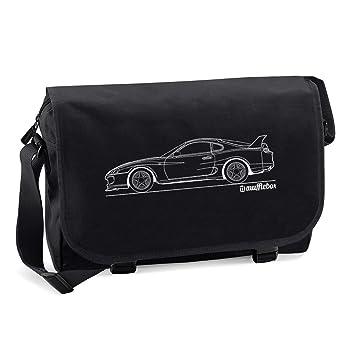 Toyota Supra Car Outline Messenger Bag Black Amazon Co Uk Luggage