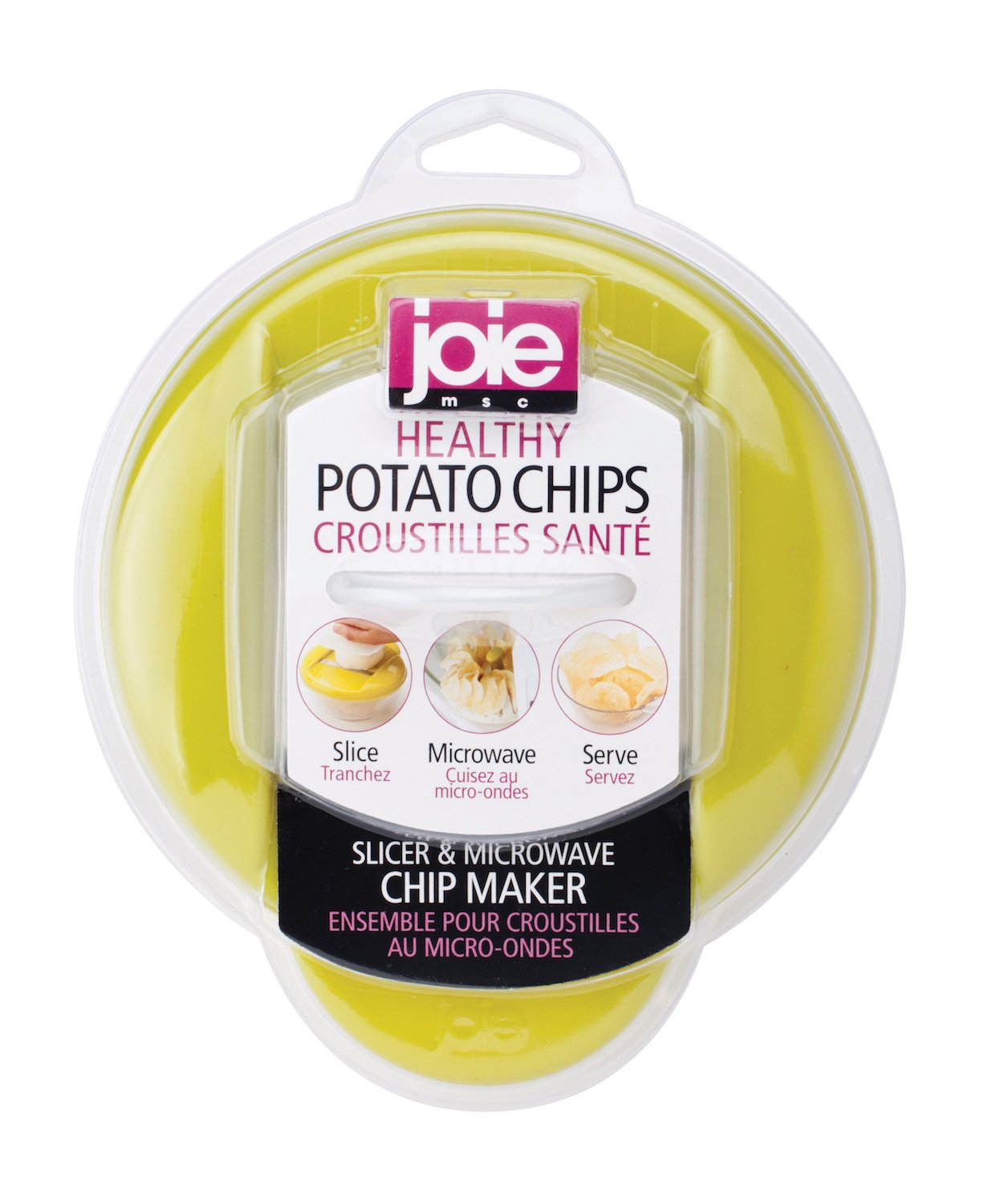 Joie Healthy Microwave Potato Chip Maker / Slicer / Cooker (Colors May Very) 44000 47486_rosso