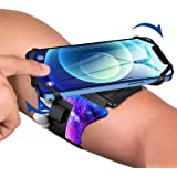 VUP Reflective Running Armband 360°Rotation with AirPods/AirPods Pro Holder Phone Armband for iPhone, Samsung, All Screen Fri