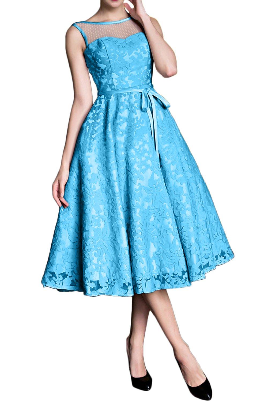 (ウィーン ブライド)Vienna Bride イブニングドレス セレブリティドレス パーティードレス ミモレ丈スカート カラードレス 一字型襟 ベアトップ 蝶結びベルト レース アップリケ 編み上げ ブルー グリーン ゴールド イエロー ノースリーブ ひだ B078HB48MW 23W|ブルー ブルー 23W