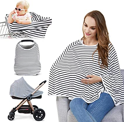 Mummy Breast-feeding Nursing Cover Wrap Poncho Baby Seat Stroller Scarf Blanket