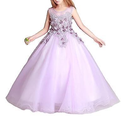 Amazon.com: Mejorme Girls Sleeveless Fairy Swing Dress Princess Ball ...
