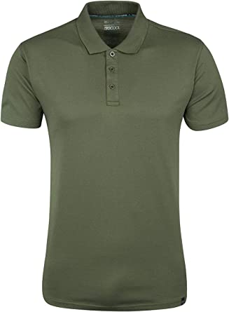 Mountain Warehouse Camiseta Polo técnica Quest para Hombre Caqui ...