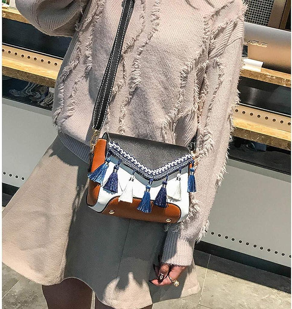 XUANOU Women Girl Sequin Leopard Print School Bag Backpack Satchel Travel Shoulder Bag