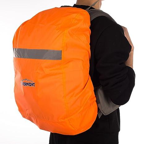 Paseos a Caballo Escalada Negro//Naranja Overmont Cubierta Impermeable Protector de Lluvia de Mochila con Cinta Reflectante para el Aire Libre Viajes