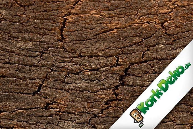 3D - Dorso de corcho de una sola pieza de corcho corteza 60 x 30 cm | posterior de corcho natural para Terrario, paludarium, Acuario