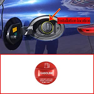 Aluminum Alloy Gas Fuel Tank Cap Cover Trim For Alfa Romeo Giulia Stelvio Accessories 2017 2018 2019 2020 (Red)