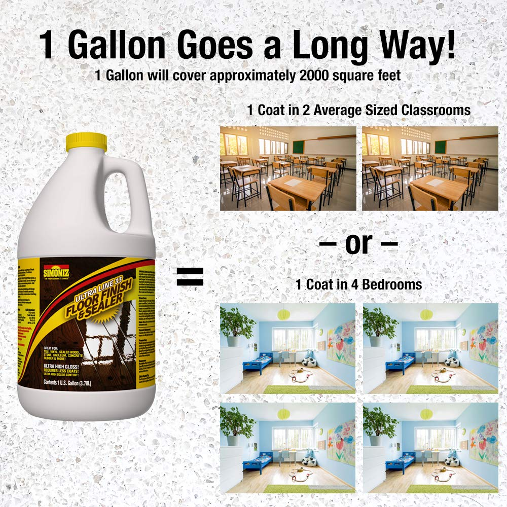 Ultra HIGH Gloss 33% Solids Floor Finish Wax - 4 Gallon Case (More Durable, Less Coats, Less Labor) by Green Gobbler (Image #7)