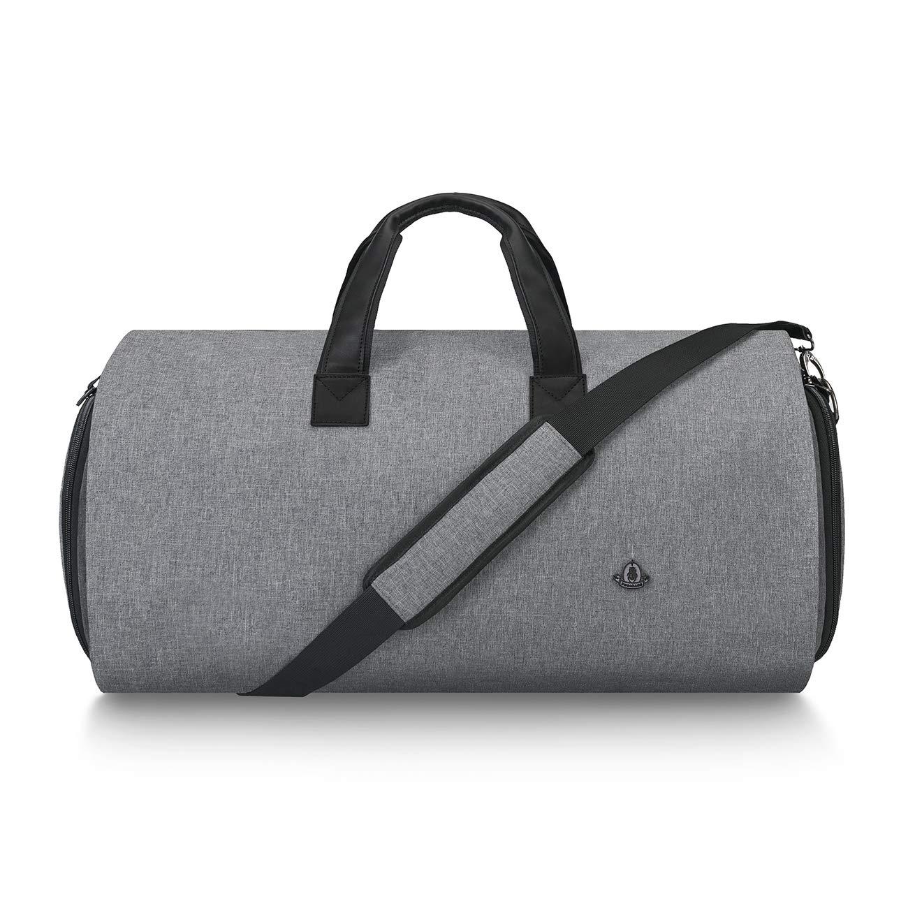 BUG Travel Garment Bag and Duffel,Convertible Garment Duffel Bag - 2 in 1 Suit Garment Bag,Dark Gray