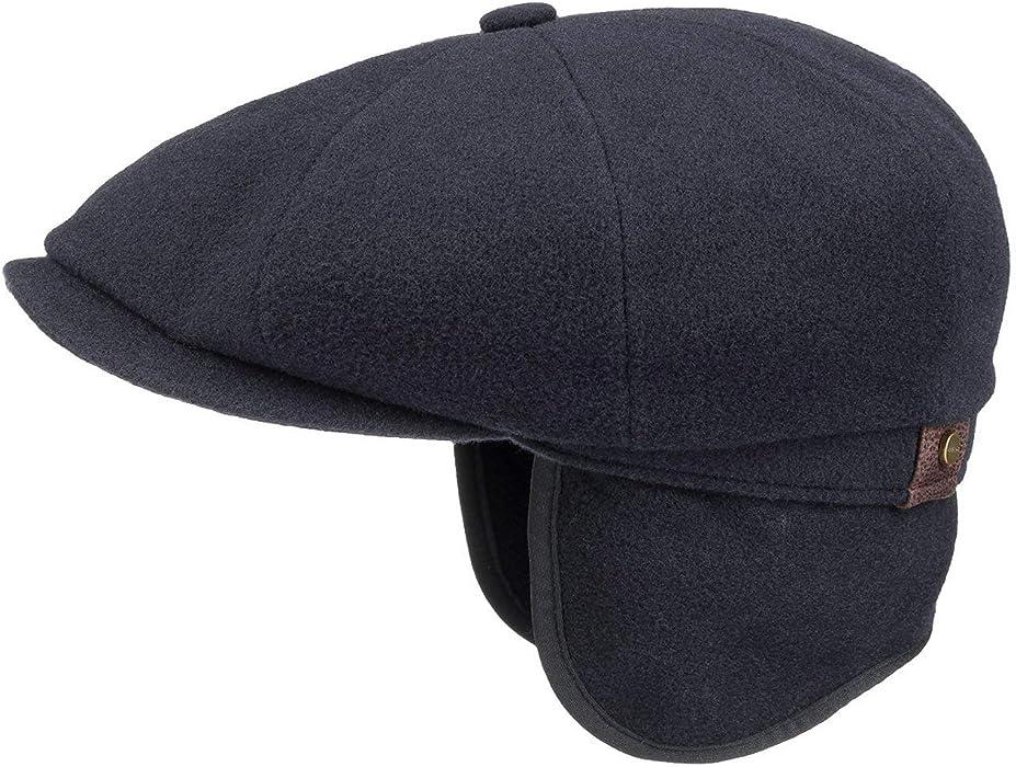9673a8c6e30d3 Men s Hatteras Wool Flat Cap. Stetson Hatteras Earflap Flat Cap Men Blue 7