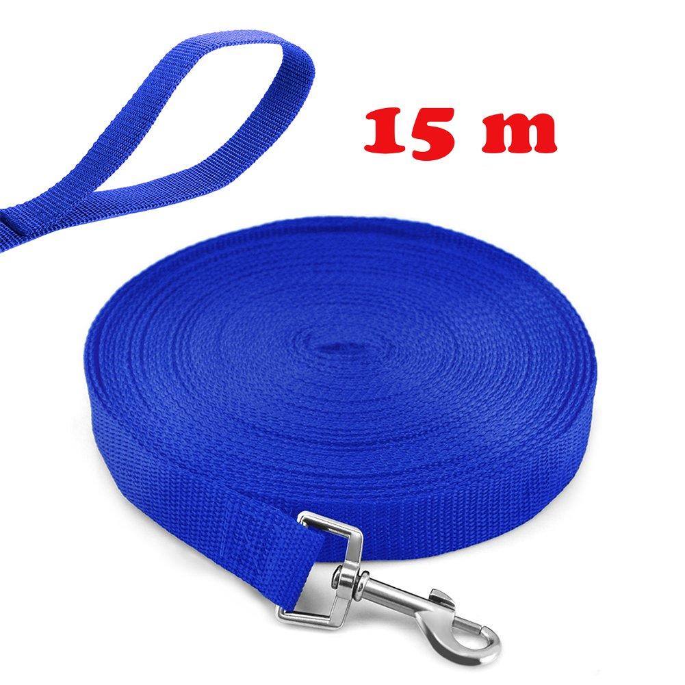 20m, Blu Guinzaglio da addestramento per cane lungo Ploopy guinzaglio da addestramento per cani