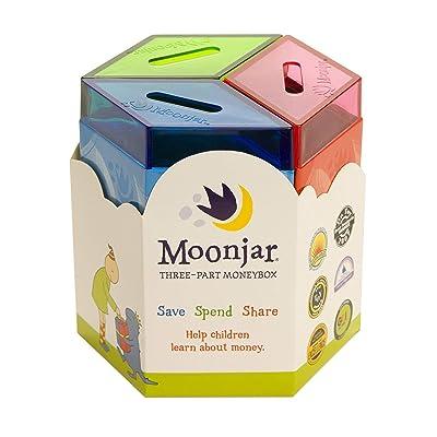 Moonjar Classic Save Spend Share 3-Part Tin Moneybox Bank: Moonjar: Toys & Games