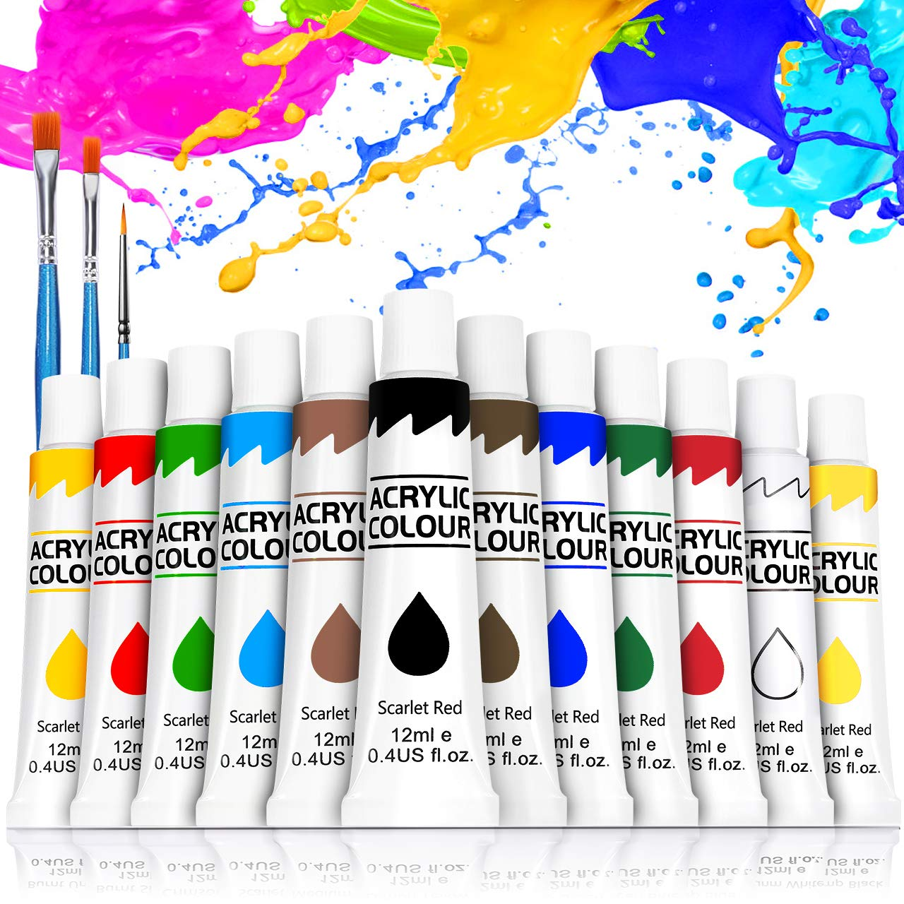 Farby akrylowe, Buluri zestaw farb akrylowych 12 x 12 ml