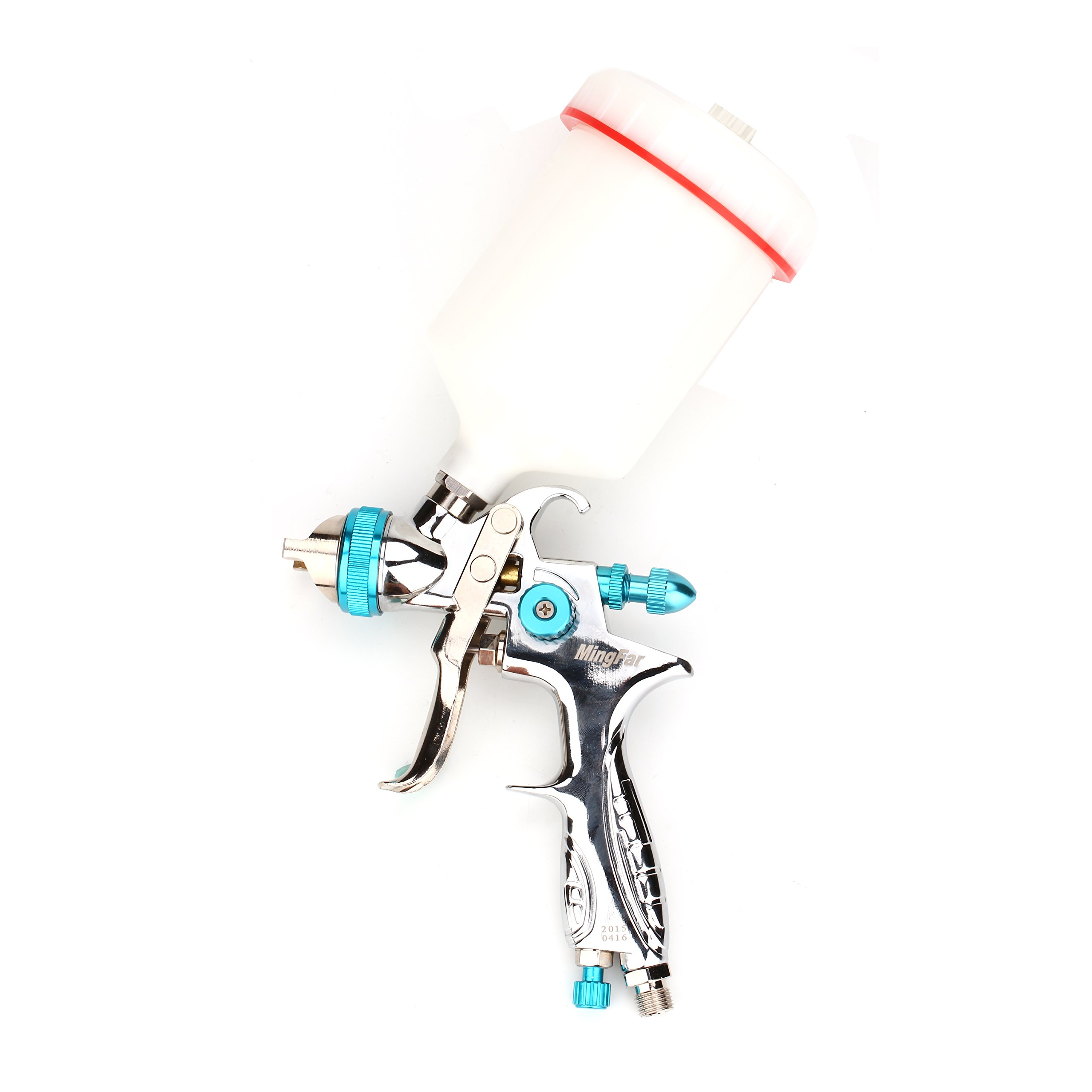 Professional HVLP Spray Gun Gravity /Siphon Feed|Nozzle Tip Size 1.4mm|1/4'' NPT |600cc/1000cc cup (HVLP-G1.4mm) by Shiningeyes (Image #1)
