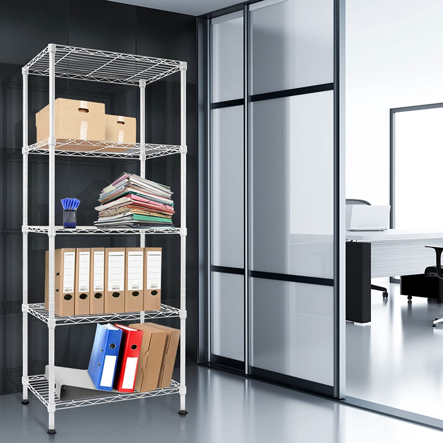 Amazon.com: casa pura Metal Storage Shelves | Wire Shelving ...