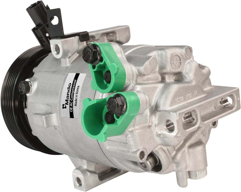 Pre-filled Oil New Mando 10A1416 AC Compressor with Clutch Original Equipment