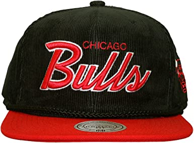 Mitchell & Ness – Gorra con visera plana para hombre Chicago Bulls ...